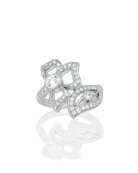 Carelle 18K White Gold Florette Diamond Wrap Ring
