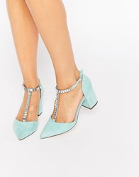 Asos Santiago Embellished Pointed Heels Mint Green