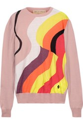 Emilio Pucci Metallic Intarsia Wool Blend Sweater Multi