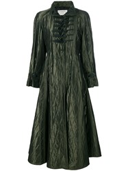 Christian Dior Vintage Padded Diamond Quilted Coat Green