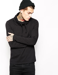 Asos Long Sleeve T Shirt With Cowl Neck Black