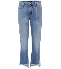 J Brand Aubrie High Rise Cropped Jeans Blue