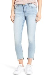 Kut From The Kloth Women's Reese Uneven Hem Straight Ankle Jeans