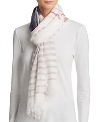 Fraas Ministripe Scarf Taupe