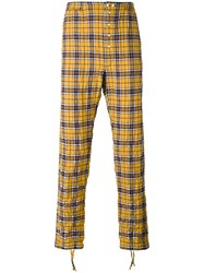 Faith Connexion Checked Trousers Yellow Orange