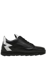 Mohai 30Mm Leather And Crackled Leather Sneaker