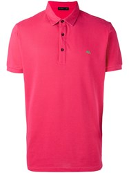 Etro Embroidered Logo Polo Shirt Pink Purple