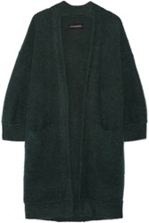 By Malene Birger Rinorra Oversized Brushed Stretch Knit Cardigan Emerald