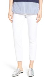 Jag Jeans Women's Amelia Pull On Slim Stretch Twill Ankle Pants White