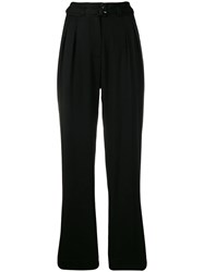 A.P.C. Belted Straight Trousers Black