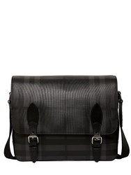 Burberry Check Faux Leather Messenger Bag