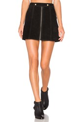 Understated Leather X Revolve High Waist Suede Zip Skirt Black