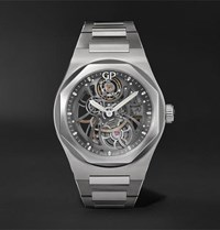 Girard Perregaux Laureato Automatic Skeleton 42Mm Stainless Steel Watch Gunmetal