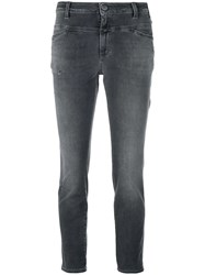 Closed Low Rise Cropped Jeans Grey