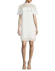 Vero Moda Crocheted Shift Dress Show White