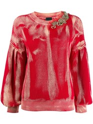Pinko 1B14lfy696 R73 Rosso Fragola Natural Vegetable Cotton 60