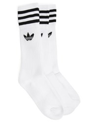 Adidas 3 Pairs Of White Crew Socks