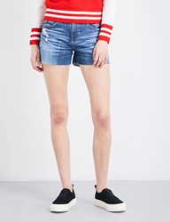 Ag Jeans The Hailey Boyfriend Fit Mid Rise Denim Shorts 15 Years Boundless