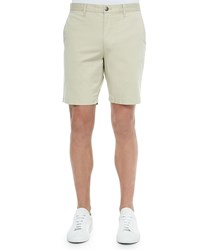 Bermuda Cotton Blend Shorts Tan Theory