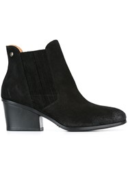 Buttero Chunky Heel Ankle Boots Black