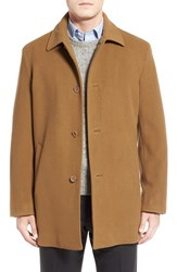 Cole Haan Men's Italian Wool Overcoat Camel