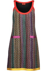 Missoni Crochet Knit Mini Dress Multi