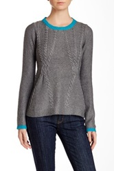 Lavand Cable Knit Sweater Gray