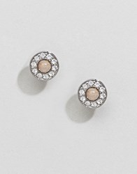 Dyrberg Kern Pink And Silver Stud Earrings