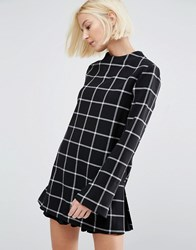 Selected Tunic Top In Check Multi