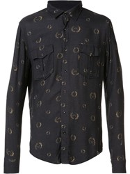 Osklen Bay Leaves Printed Shirt Grey