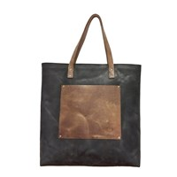 O My Bag Lou's Big Bag In Leather Eco Charcoal