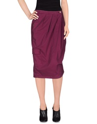 Manila Grace 3 4 Length Skirts Dark Brown