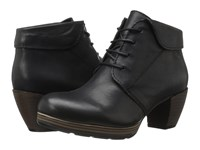 Wolky Jacquerie Black Mighty Greased Women's Lace Up Boots