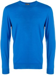 Drumohr Perfectly Fitted Sweater Blue