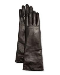 Neiman Marcus Elbow Length Leather Tech Gloves Blk