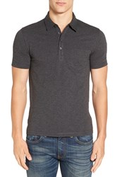 Original Penguin Men's 'Bing' Jersey Polo Charcoal Heather
