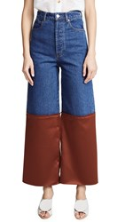 Solace London Amira Jeans Blue Brown