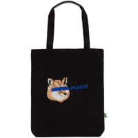 Maison Kitsune Black Ader Error Edition Fox Head Tote