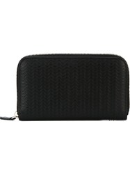 Zanellato Wavy Textured Wallet Black