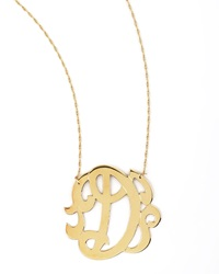Jennifer Zeuner Jewelry Jennifer Zeuner Swirly Initial Necklace D Gold