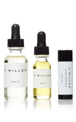F. Miller Necessity Travel Kit Black White