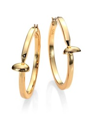Giles And Brother Railroad Spike Hoop Earrings 2 Gold