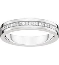 Thomas Sabo Sterling Silver And White Zirconia Ring