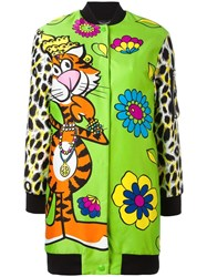 Moschino Floral Tiger Print Bomber Jacket
