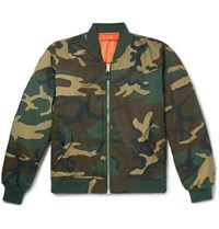 Alyx Alpha Industries Embroidered Camouflage Print Twill Bomber Jacket Green