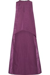 Narciso Rodriguez Asymmetric Washed Silk Satin Top Violet