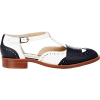 Gabriela Hearst Chilton T Strap Brogues White Navy