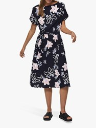 Selected Femme Rinna Vienna Floral Print Midi Dress Night Sky