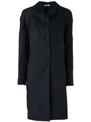 Nina Ricci Pleated Sleeve Coat Blue