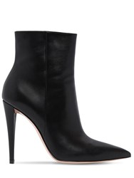Gianvito Rossi 100Mm Leather Ankle Boots Black